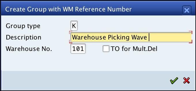 Grouping Via SAP ERP WM