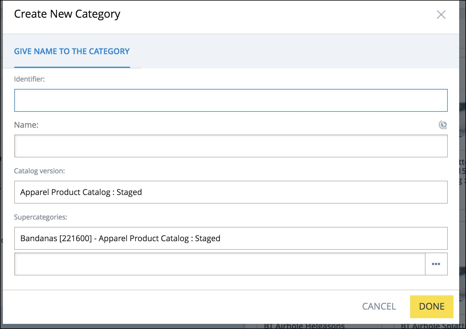 SAP C/4HANA Commerce Cloud Category Creation