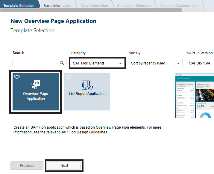 New Overview Page Application