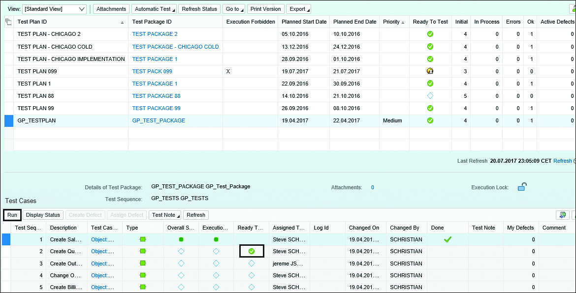 SAP Solution Manager Manual Test Case Execution