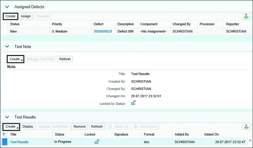 SAP Solution Manager Create Test Note
