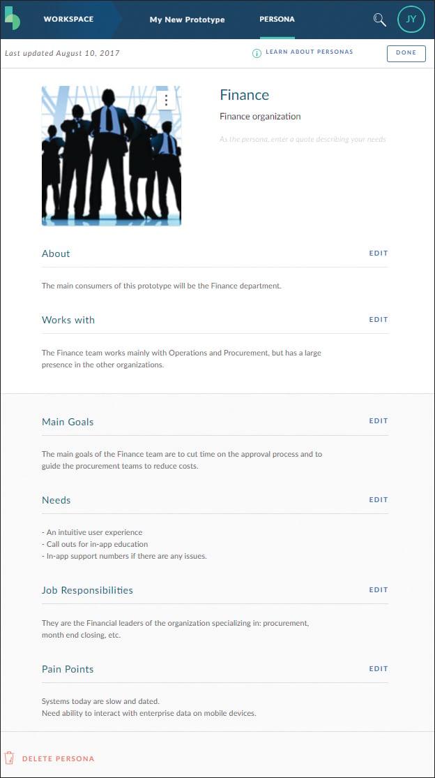 SAP Build Persona