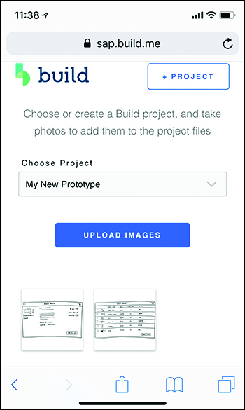 SAP Build New Project on Mobile