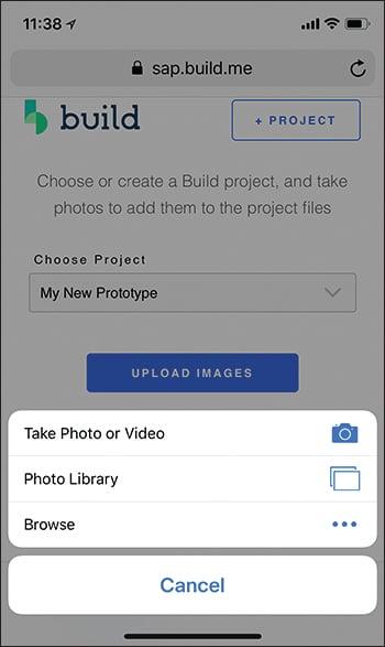 SAP Build Add File Mobile