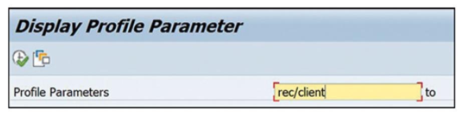 Transaction SE38 with Report RSPFPAR