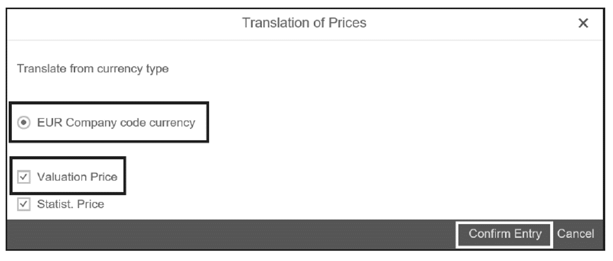 Translation of Currency Type during Price Change
