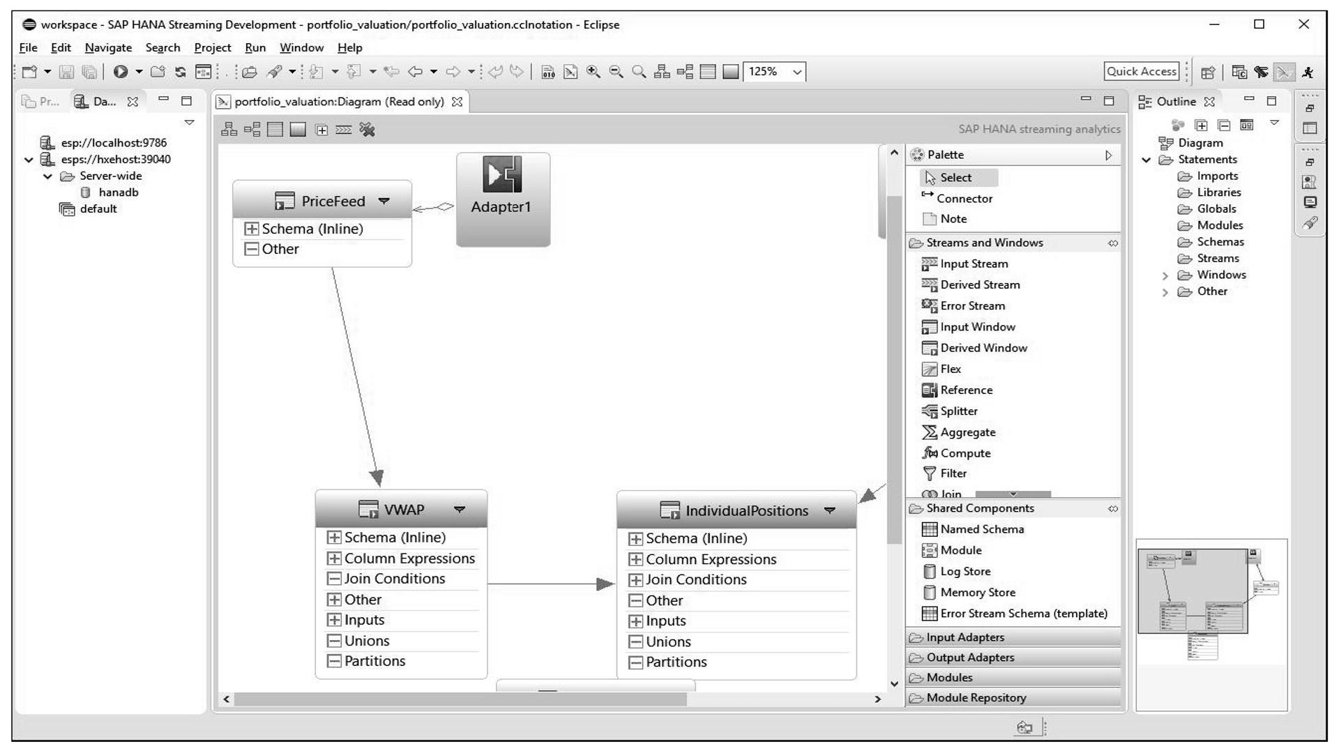 SAP HANA Streaming Analytics Studio