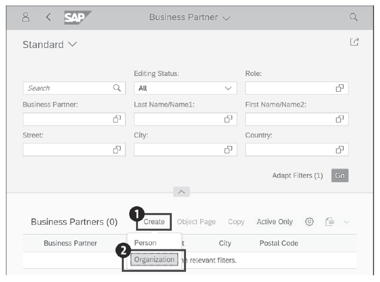 Managing Business Partner Master Data