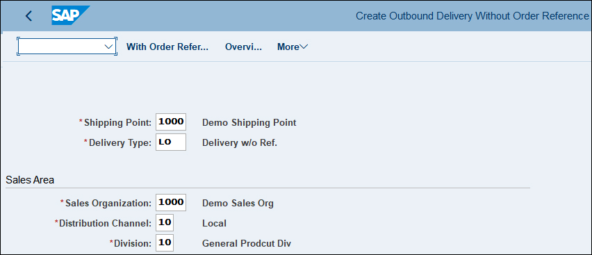 Create Outbound Delivery with Reference SAP QM