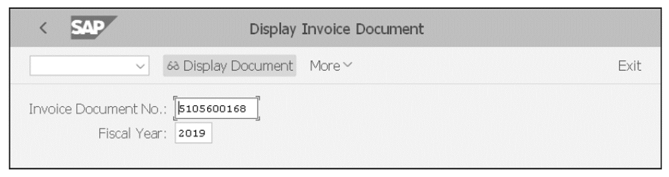 Display Invoice Screen