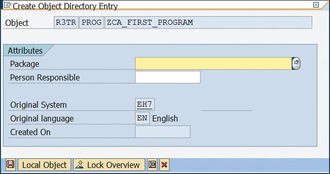 Create ABAP Object