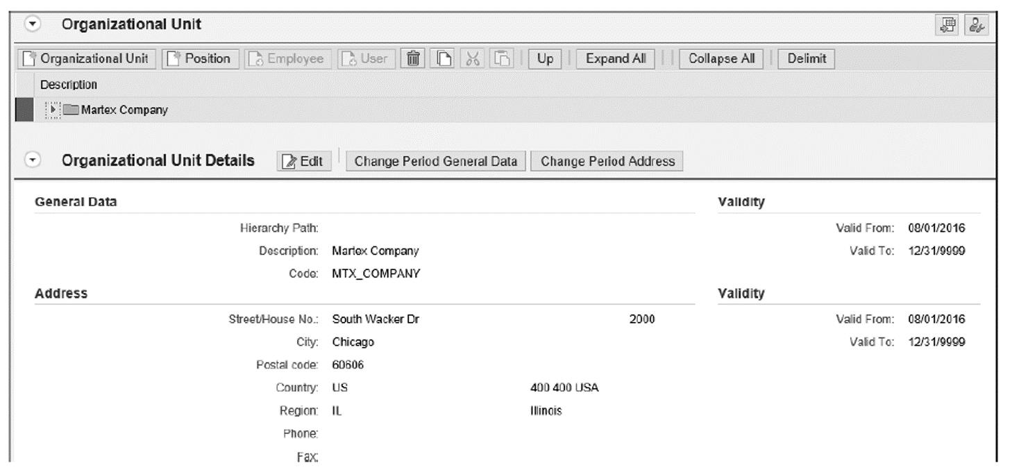 Root Organization Unit:Martex Company