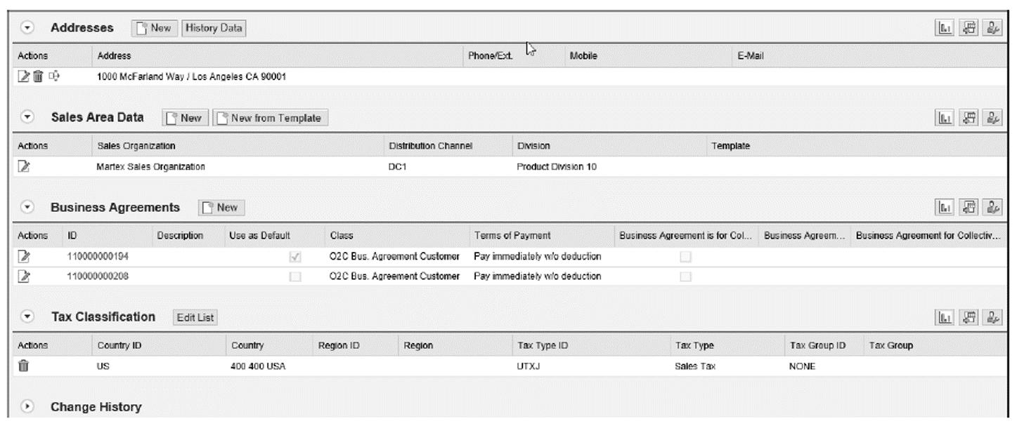 Business Partner Details: McFarland Systems, Screen 2