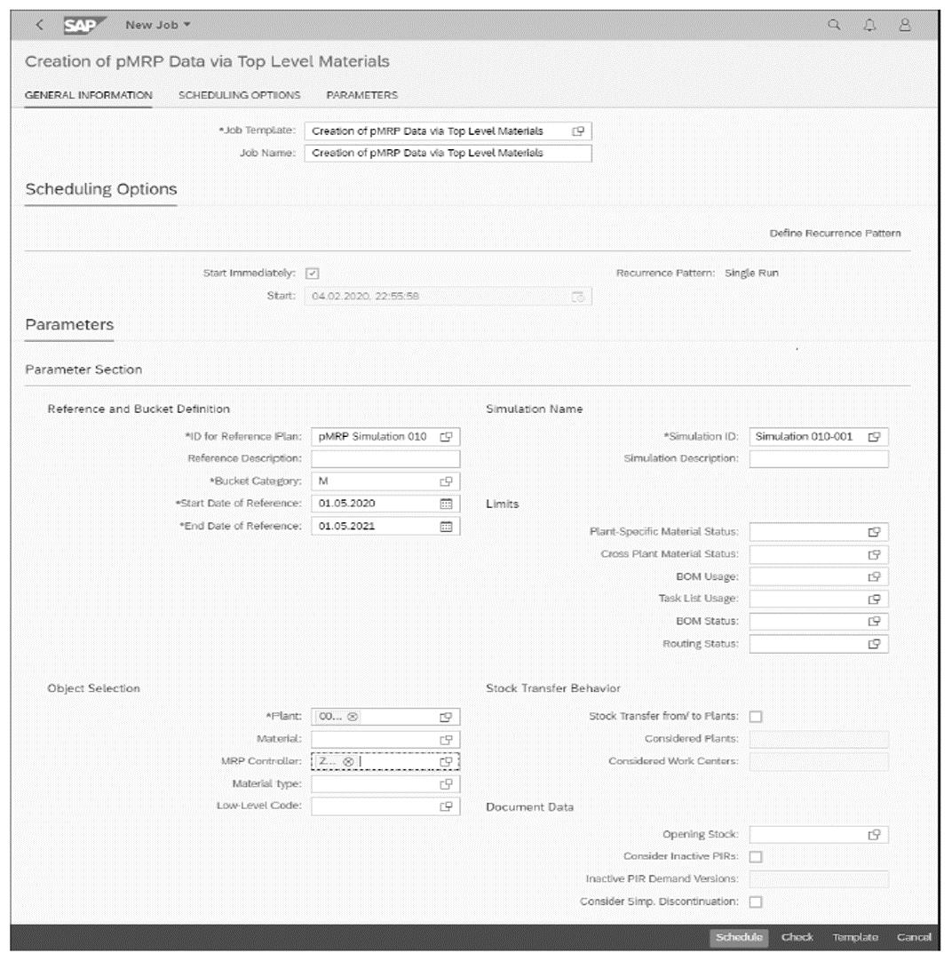 Creating pMRP Data via Top-Level Materials