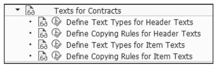 Texts for Contracts