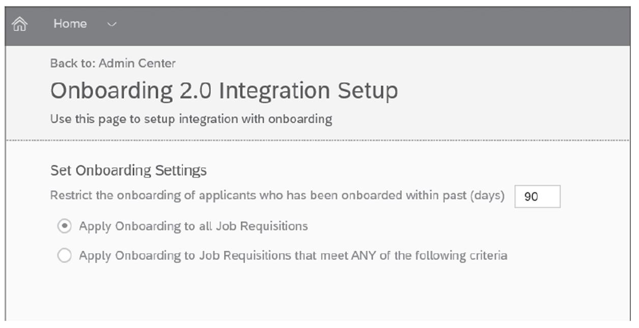 Onboarding 2.0 Integration Setup