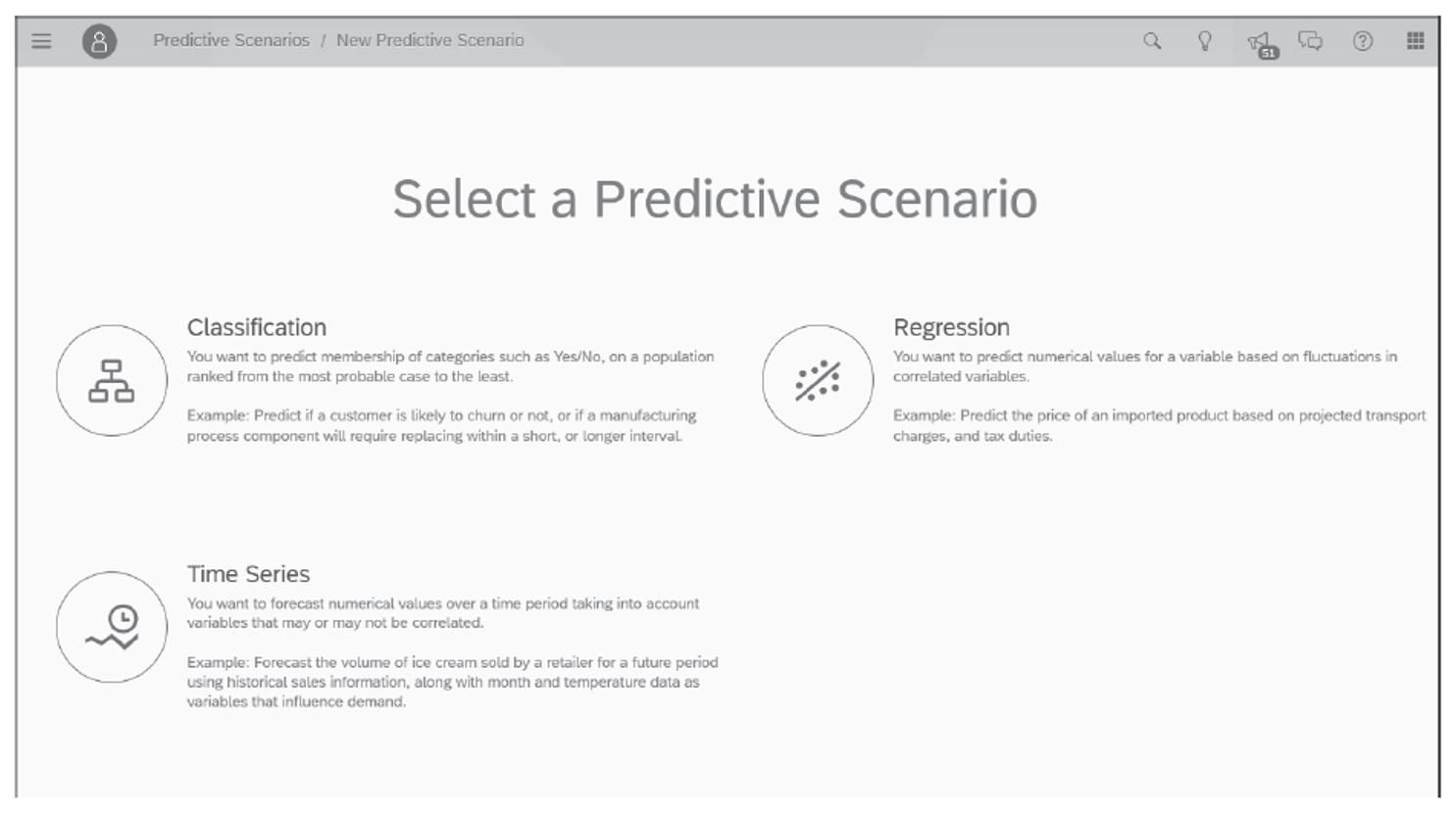 Predictive Scenarios in SAP Analytics Cloud Smart Predict