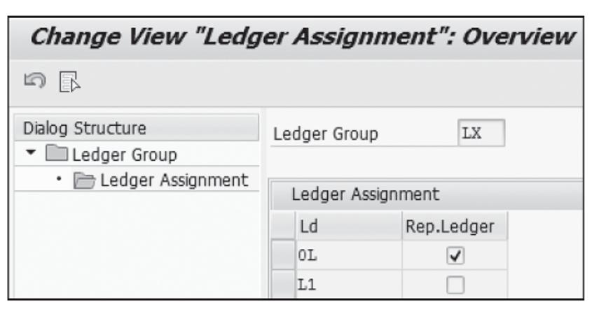 Defining the Ledger Group and Representative Ledger
