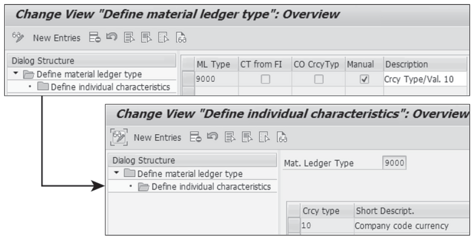 Assign Currency Types to Material Ledger Types