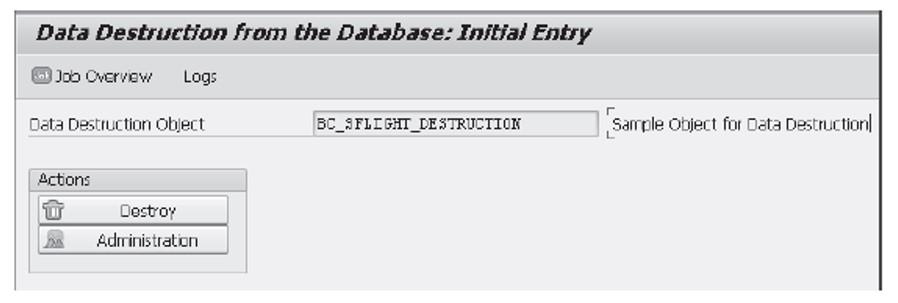 Transaction ILM_DESTRUCTION: Initial Entry