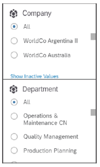 Single-Selection Input Controls