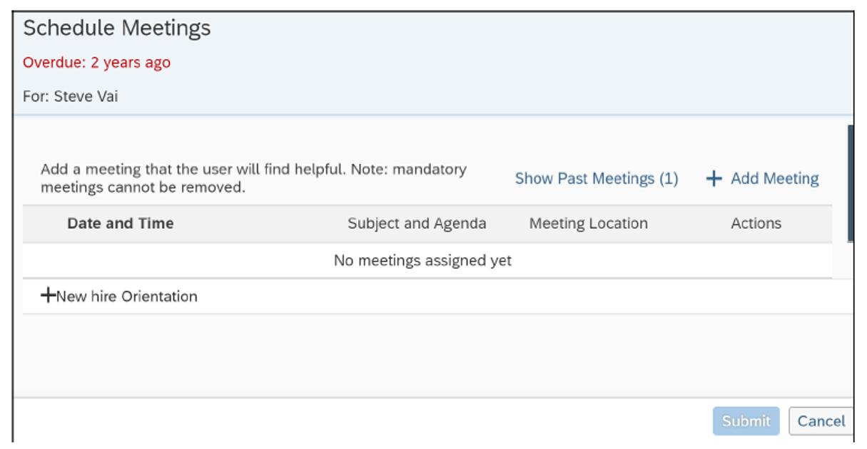 SAP SuccessFactors Onboarding: Schedule Meetings