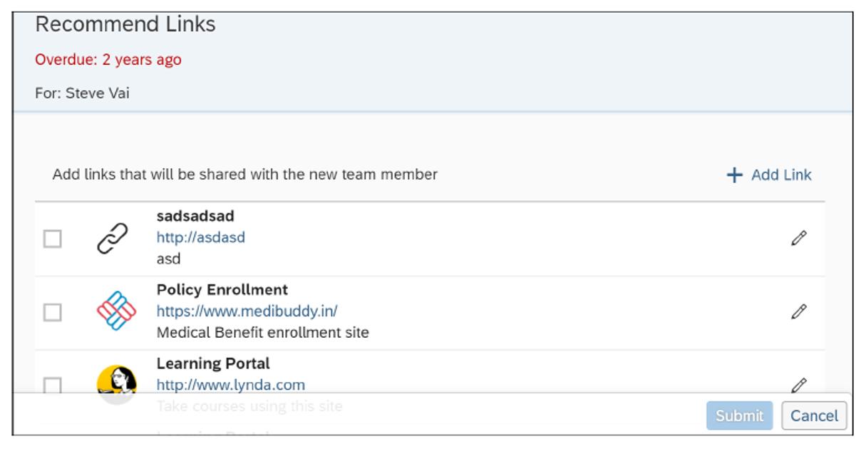SAP SuccessFactors Onboarding: Recommend Links
