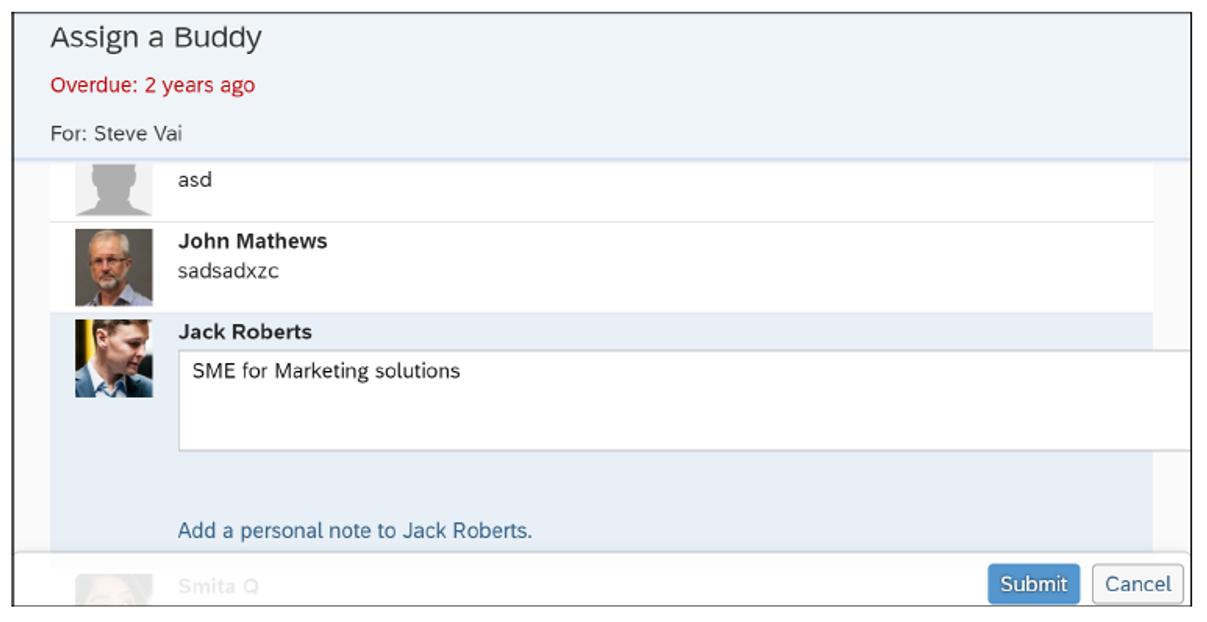 SAP SuccessFactors Onboarding: Assign a Buddy