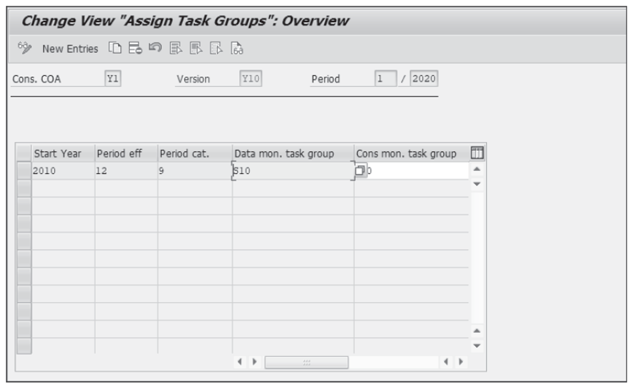 Assigning a Task Group to a Dimension