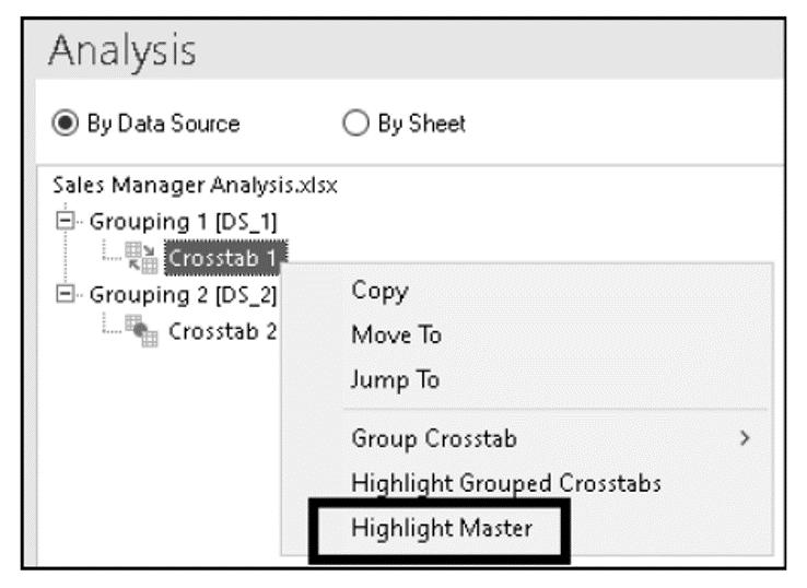 Highlight Master Option