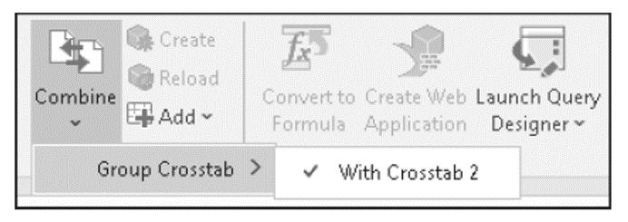 Ungrouping Crosstabs