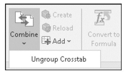 Ungrouping Dependent Crosstabs