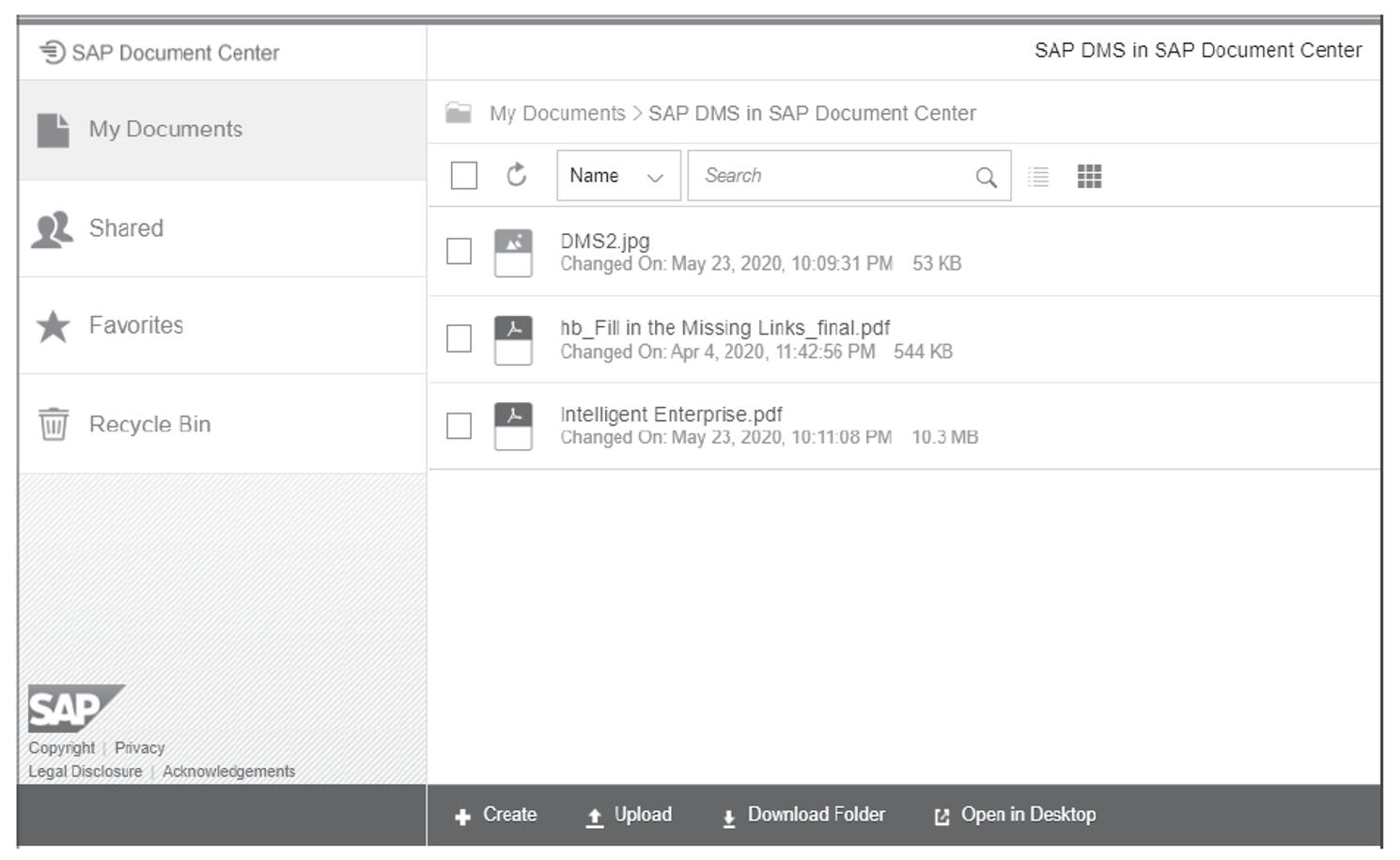 SAP Document Center: Web App