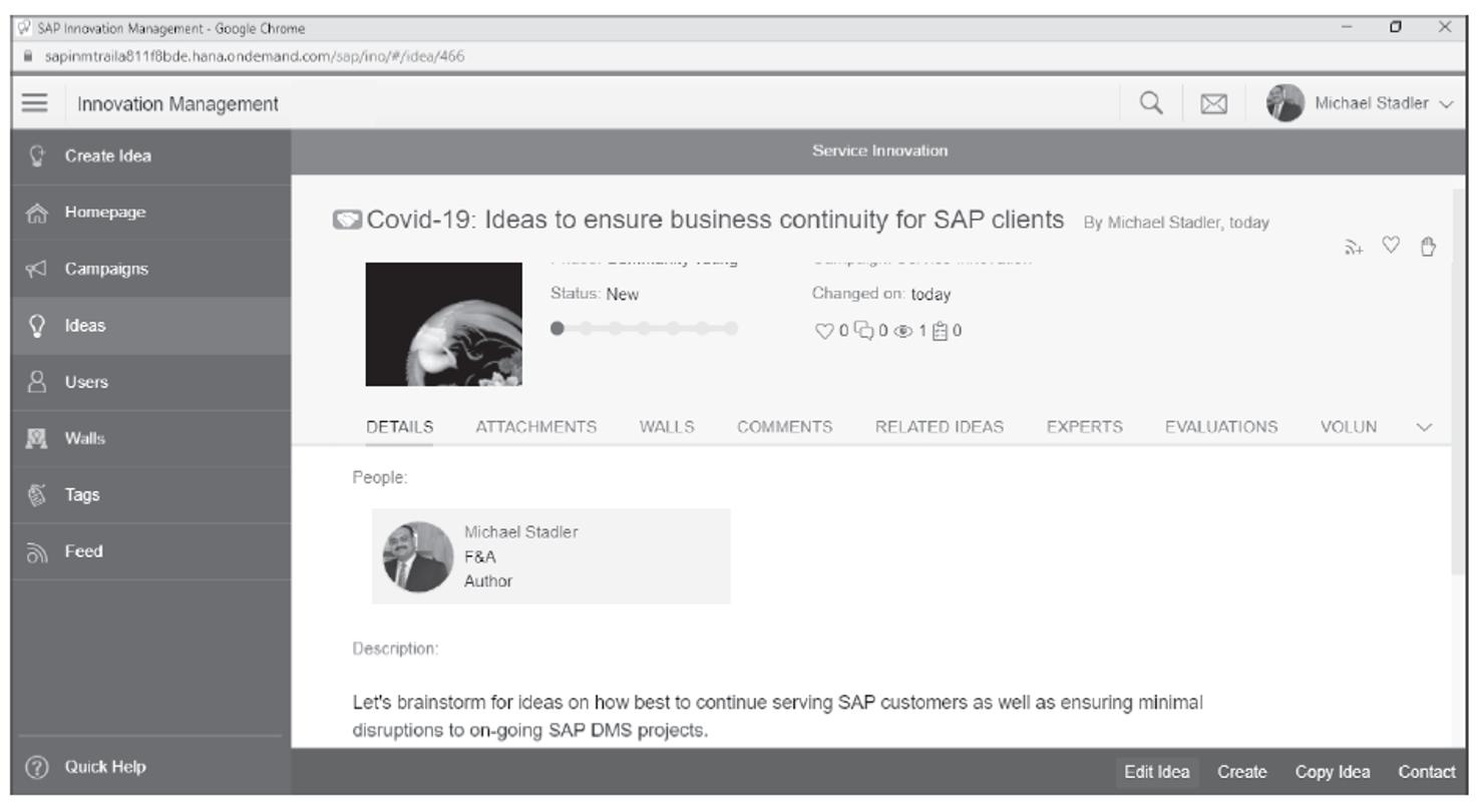 SAP Innovation Management