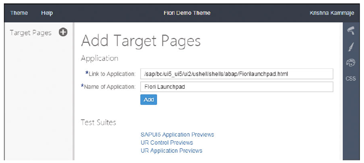 Adding Target Pages for the New Theme