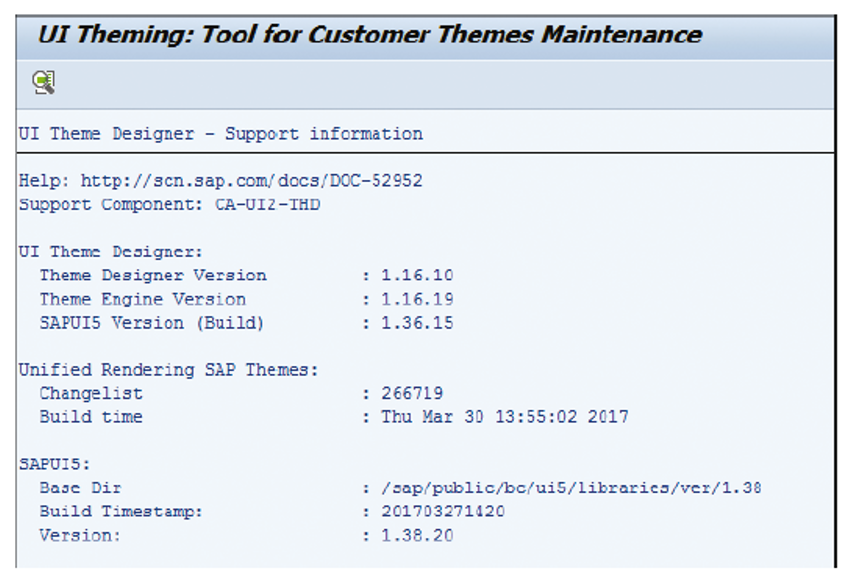 UI Theme Designer Support Information