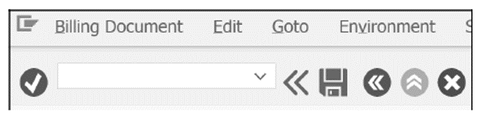 Billing Document: Save Icon