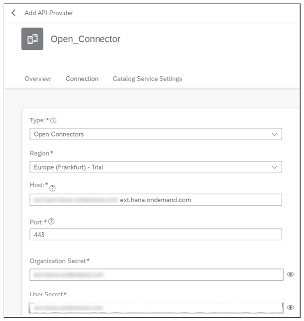 Connectors Details in API Management