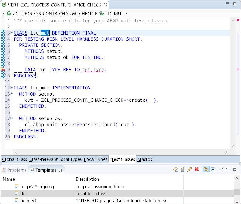 ABAP Screen Template View