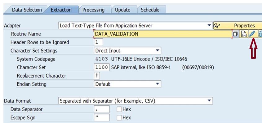 Data source setting in SAP BW/4HANA