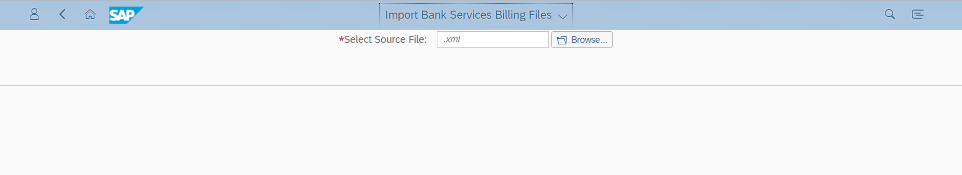 Import Bank Services Billing Files