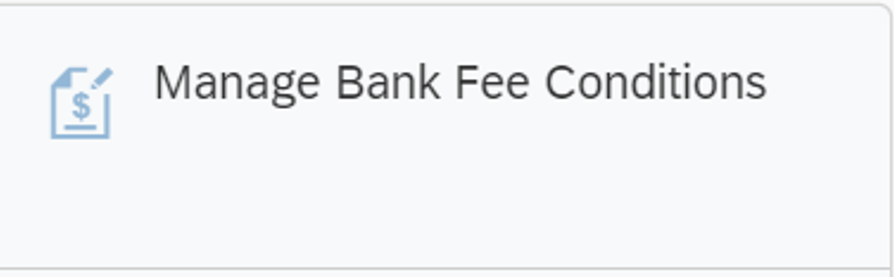 SAP Fiori Manage Bank Fee Condition App
