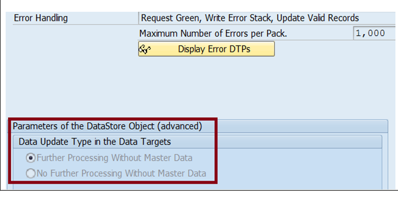 DTP Configuration - Target ADSO