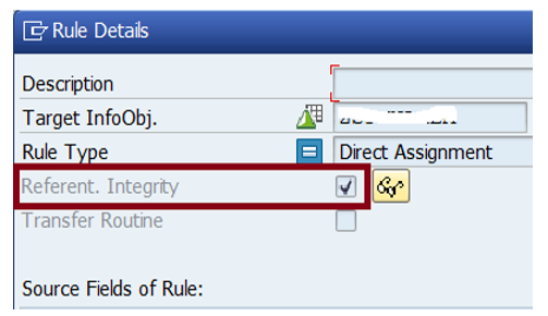 Transformation Setting - Referential Integrity
