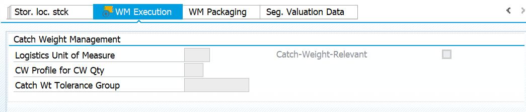 WM Execution: Catch Weight Management