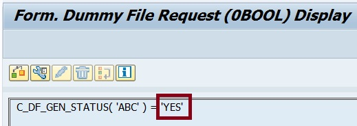 Formula using 'ABC' for 'YES'