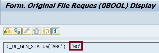 Formula using 'ABC' for 'NO'