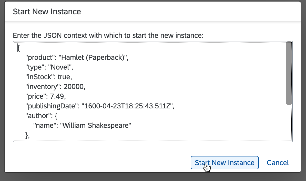Start New Instance