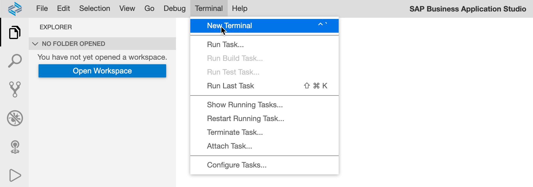Create New Terminal