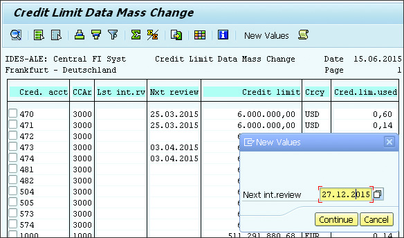 SAP SD Master Record Mass Change